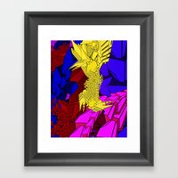 AUTOMATIC WORM 3 Framed Art Print