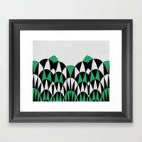 Modern Day Arches Green Framed Art Print