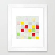 Colour Blocks Papercut Framed Art Print
