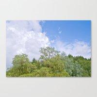 Green skycrapers Canvas Print