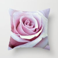 Blushing Bloom Throw Pillow