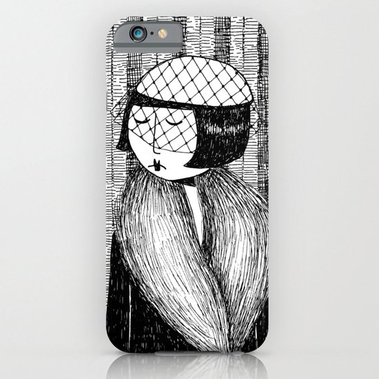She thought of her cats and wished she was home iPhone & iPod Case