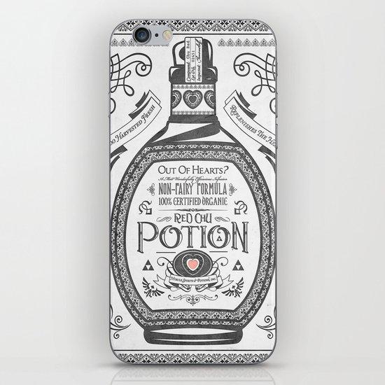 Legend of Zelda Red Potion Vintage Hyrule Line Work Letterpress iPhone & iPod Skin