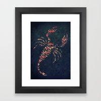 The Pattern Scorpio Framed Art Print