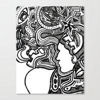 Techno Canvas Print