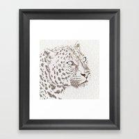 The Intellectual Leopard Framed Art Print