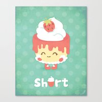Strawberry Short Cake Canvas Print