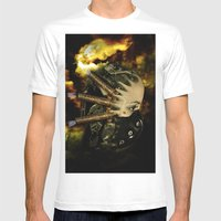Machine Thoughts Mens Fitted Tee White SMALL