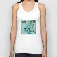 The Unknown Rider Comic Book Panel Unisex Tank Top
