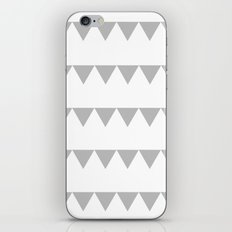 TRIANGLE BANNERS (Gray) iPhone & iPod Skin