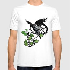 Raven and Ginkgo - Summer Cycle Mens Fitted Tee White SMALL