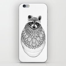 Raccoon- Feathered iPhone & iPod Skin