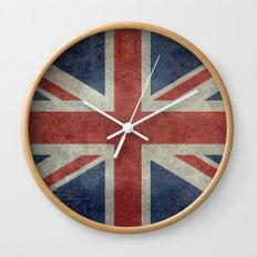England's Union Jack (3:5 Version) National flag of the United Kingdom - Vintage retro version Wall Clock