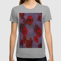 REDFLOWERS Womens Fitted Tee Athletic Grey SMALL