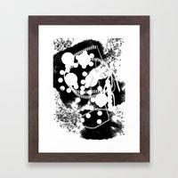 black whıte Framed Art Print