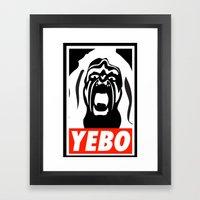 YEBO WARRIOR Framed Art Print