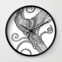 Whale Vs. Squid Wall Clock