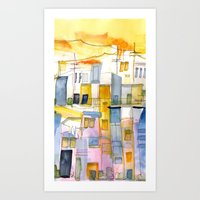 Morning In The Village 1 Art Print