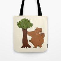 Bear and Madrono Tote Bag