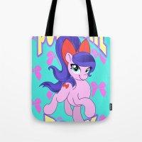 Ponytail Pony Tote Bag