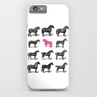 iPhone & iPod Case featuring Brave Horses & Pink Pony by  d a n i e l  e s t h e r a s