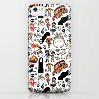 iPhone 5c Cases featuring Kawaii Ghibli Doodle by KiraKiraDoodles