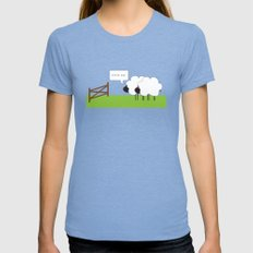 After Ewe Womens Fitted Tee Tri-Blue SMALL