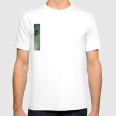 teardrop stairs Mens Fitted Tee SMALL White