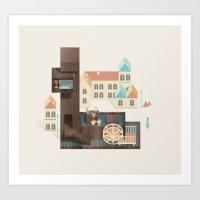 Resort Type - Letter L Art Print