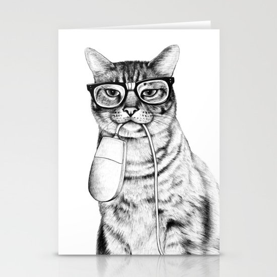 Mac Cat Stationery Card
