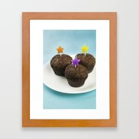 Cupcake Party  Framed Art Print