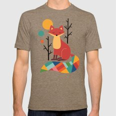 Rainbow Fox Mens Fitted Tee Tri-Coffee SMALL