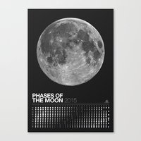 2015 Phases of the Moon Calendar (Full Moon) Canvas Print