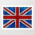 British Flag - Brittain England Stone Rock'd Art Art Print