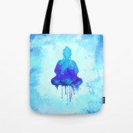 Watercolor Zen Buddha Bl… Tote Bag