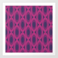Retro Bloom Purple 6 Art Print