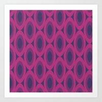 Retro Bloom Purple 6 Art Print
