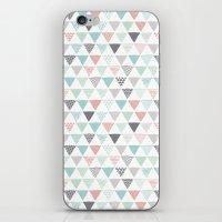 Geometric Pastel Triangl… iPhone & iPod Skin