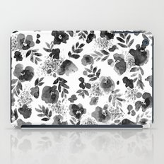 Floret Black and White iPad Case