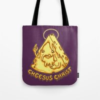 Cheesus Christ Tote Bag