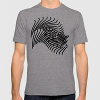 Zebra Sonnet Mens Fitted Tee Tri-Grey SMALL