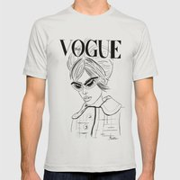 Vogue Italia Mens Fitted Tee Silver SMALL