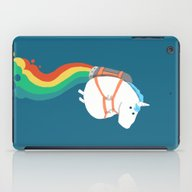 Fat Unicorn On Rainbow J… iPad Case