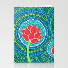 Lotus Family Of 3 Stationery Cards