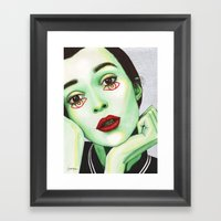Close Up 2 Framed Art Print