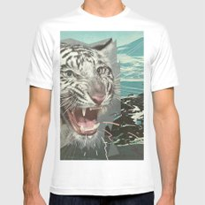 Ice Scream White SMALL Mens Fitted Tee