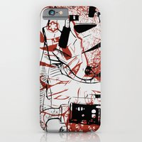 iPhone Cases featuring AT-AT Driver and Navigator by Aaron Synaptyx Fimister
