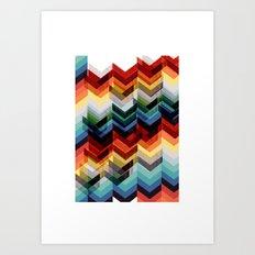 Chevron Multicolour Art Print