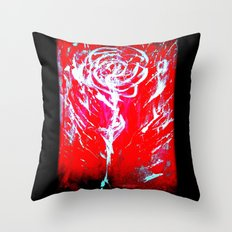 JUSSI FLOWER ROSE Throw Pillow