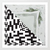 waves/grid #2 Art Print